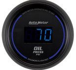 """Autometer Gauge, Oil Pressure, 2 1/16"""", 100psi, Digital, Black Dial w/ Blue LED 6927"""