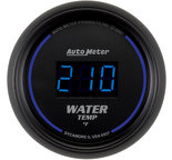 "Autometer Gauge, Water Temp, 2 1/16"", 340şF, Digital, Black Dial w/ Blue LED 6937"