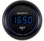 """Autometer Gauge, Pyrometer (EGT), 2 1/16"""", 1600şF, Digital, Black Dial w/ Blue LED 6945"""