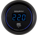 """Autometer Gauge, Oil Temp, 2 1/16"""", 340şF, Digital, Black Dial w/ Blue LED 6948"""