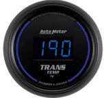 "Autometer Gauge, Trans Temp, 2 1/16"", 340şF, Digital, Black Dial w/ Blue LED 6949"