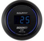 """Autometer Gauge, Vac/Boost, 2 1/16"""", 30inHg-30psi, Digital, Black Dial w/ Blue LED 6959"""