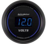 """Autometer Gauge, Voltmeter, 2 1/16"""", 18V, Digital, Black Dial w/ Blue LED 6993"""