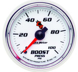 "Autometer Gauge, Boost, 2 1/16"", 100psi, Mechanical, C2 7106"