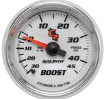 "Autometer Gauge, Vac/Boost, 2 1/16"", 30inHg-45psi, Mechanical, C2 7108"