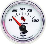 "Autometer Gauge, Oil Pressure, 2 1/16"", 100psi, Electric, C2 7127"