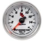 """Autometer Gauge, Pyrometer (EGT), 2 1/16"""", 1600şF, Digital Stepper Motor, C2 7144"""