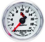 """Autometer Gauge, Pyrometer (EGT), 2 1/16"""", 2000şF, Digital Stepper Motor, C2 7145"""