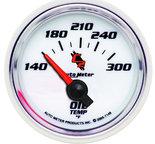 """Autometer Gauge, Oil Temp, 2 1/16"""", 140-300şF, Electric, C2 7148"""