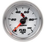 "Autometer Gauge, Fuel Pressure, 2 1/16"", 100psi, Digital Stepper Motor, C2 7163"