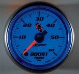 """Autometer Gauge, Boost, 2 1/16"""", 60psi, Digital Stepper Motor, C2 7170"""