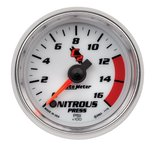 "Autometer Gauge, Nitrous Pressure, 2 1/16"", 1600psi, Digital Stepper Motor, C2 7174"
