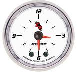 "Autometer Gauge, Clock, 2 1/16"", 12Hr, Analog, C2 7185"