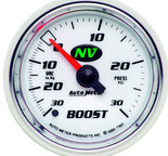 "Autometer Gauge, Vac/Boost, 2 1/16"", 30inHg-30psi, Mechanical, NV 7303"