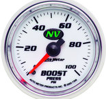"Autometer Gauge, Boost, 2 1/16"", 100psi, Mechanical, NV 7306"