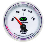 "Autometer Gauge, Fuel Level, 2 1/16"", 0?E to 90?F, Elec, NV 7313"