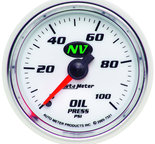 "Autometer Gauge, Oil Pressure, 2 1/16"", 100psi, Mechanical, NV 7321"