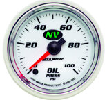 "Autometer Gauge, Oil Pressure, 2 1/16"", 100psi, Digital Stepper Motor, NV 7353"