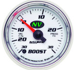 "Autometer Gauge, Vac/Boost, 2 1/16"", 30inHg-30psi, Digital Stepper Motor, NV 7359"