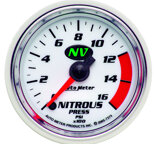 "Autometer Gauge, Nitrous Pressure, 2 1/16"", 1600psi, Digital Stepper Motor, NV 7374"