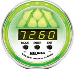 Autometer Gauge, Shift Light, Digital RPM w/ multi-color LED Light, DPSS Level 2, NV 7388