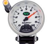 "Autometer Gauge, Tachometer, 3 3/4"", 10k RPM, Pedestal w/ ext. Quick-Lite, NV 7390"