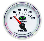 "Autometer Gauge, Voltmeter, 2 1/16"", 18V, Electric, NV 7392"