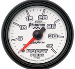 "Autometer Gauge, Boost, 2 1/16"", 35psi, Mechanical, Phantom II 7504"