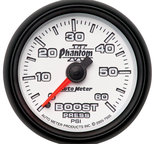 "Autometer Gauge, Boost, 2 1/16"", 60psi, Mechanical, Phantom II 7505"