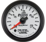 "Autometer Gauge, Fuel Level, 2 1/16"", 0?E to 90?F, Elec, Phantom II 7510"