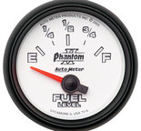 "Autometer Gauge, Fuel Level, 2 1/16"", 240?E to 33?F, Elec, Phantom II 7516"