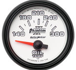 "Autometer Gauge, Oil Temp, 2 1/16"", 140-300şF, Electric, Phantom II 7548"