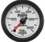 "Autometer Gauge, Oil Pressure, 2 1/16"", 100psi, Digital Stepper Motor, Phantom II 7553"
