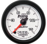 "Autometer Gauge, Fuel Pressure, 2 1/16"", 15psi, Digital Stepper Motor, Phantom II 7561"
