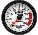"Autometer Gauge, Nitrous Pressure, 2 1/16"", 1600psi, Digital Stepper Motor, Phantom II 7574"