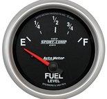 "Autometer Gauge, Fuel Level, 2 5/8"", 0?E to 90?F, Elec, Sport-Comp II 7614"