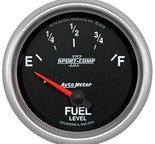 "Autometer Gauge, Fuel Level, 2 5/8"", 240?E to 33?F, Elec, Sport-Comp II 7616"