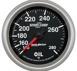 """Autometer Gauge, Oil Temp, 2 5/8"""", 140-280şF, Mechanical, Sport-Comp II 7641"""