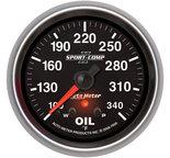 "Autometer Gauge, Oil Temp, 2 5/8"", 340şF, Stepper Motor w/ Peak & Warn, Sport-Comp II 7656"