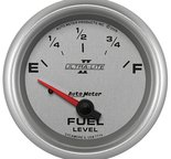 "Autometer Gauge, Fuel Level, 2 5/8"", 0?E to 90?F, Elec, Ultra-Lite II 7714"