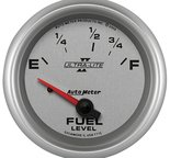 "Autometer Gauge, Fuel Level, 2 5/8"", 73?E to 10?F, Elec, Ultra-Lite II 7715"