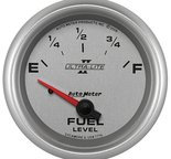 "Autometer Gauge, Fuel Level, 2 5/8"", 240?E to 33?F, Elec, Ultra-Lite II 7716"