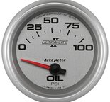 "Autometer Gauge, Oil Pressure, 2 5/8"", 100psi, Electric, Ultra-Lite II 7727"