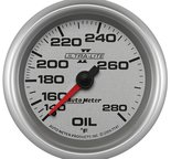 "Autometer Gauge, Oil Temp, 2 5/8"", 140-280şF, Mechanical, Ultra-Lite II 7741"