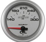"Autometer Gauge, Oil Temp, 2 5/8"", 140-300şF, Electric, Ultra-Lite II 7748"