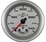 "Autometer Gauge, Oil Temp, 2 5/8"", 340şF, Stepper Motor w/ Peak & Warn, Ultra-Lite II 7756"