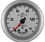 "Autometer Gauge, Fuel Press, 2 5/8"", 15psi, Stepper Motor w/ Peak & Warn, Ultra-Lite II 7761"