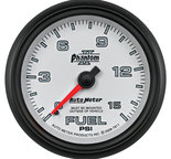 "Autometer Gauge, Fuel Pressure, 2 5/8"", 15psi, Mechanical, Phantom II 7811"