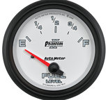 "Autometer Gauge, Fuel Level, 2 5/8"", 0?E to 90?F, Elec, Phantom II 7814"