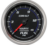 "Autometer Gauge, Fuel Pressure, 2 5/8"", 15psi, Mechanical, Cobalt 7911"